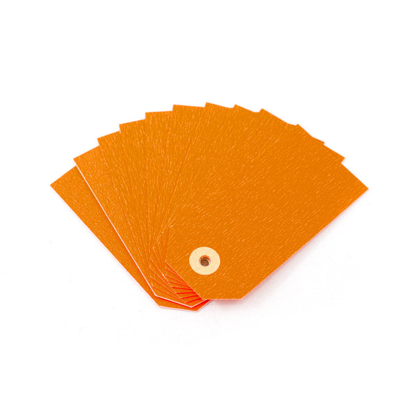 Neon Orange Gift Tags