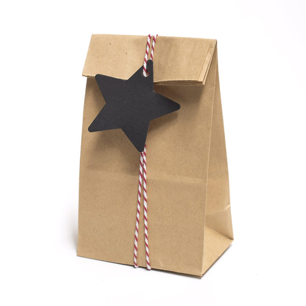 Black Xmas Star Gift Tags