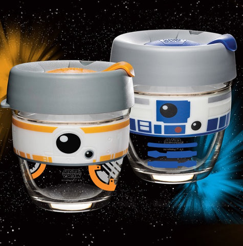 Limited edition R2D2 8oz Brew and BB8 8oz Brew.
