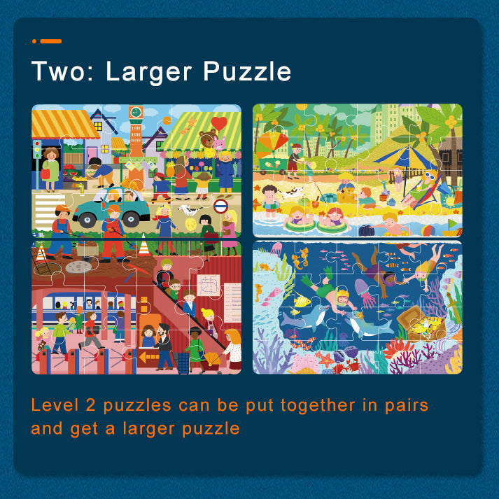Level Up! Puzzle | Mideer | Progressive Jigsaw Puzzle