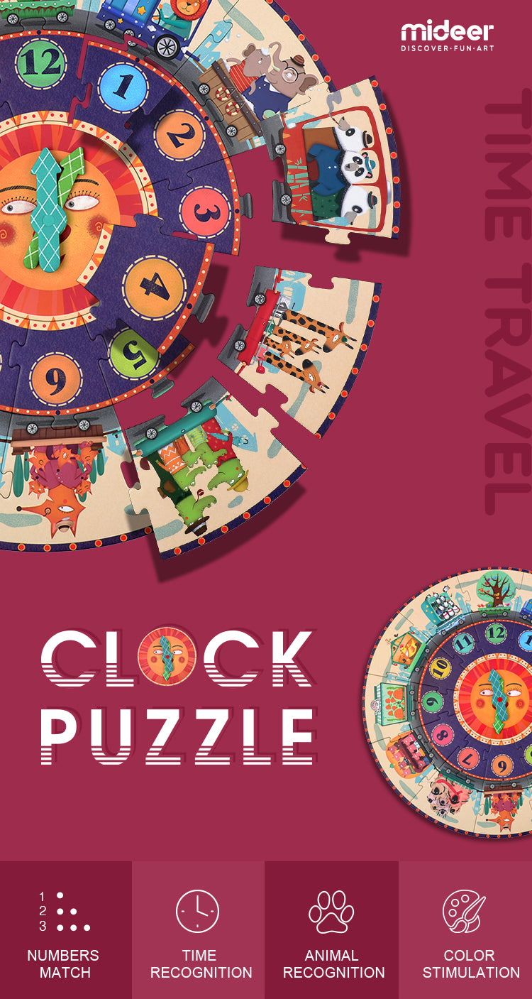 My Time Travel Puzzle | Mideer | Educational 25 Piece Jigsaw Puzzle