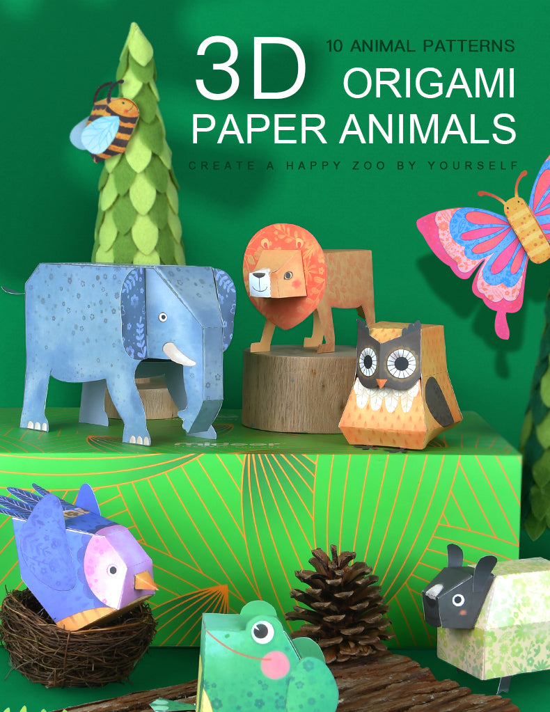 Origami Paper Animals | Mideer | 3D Paper Craft Toy
