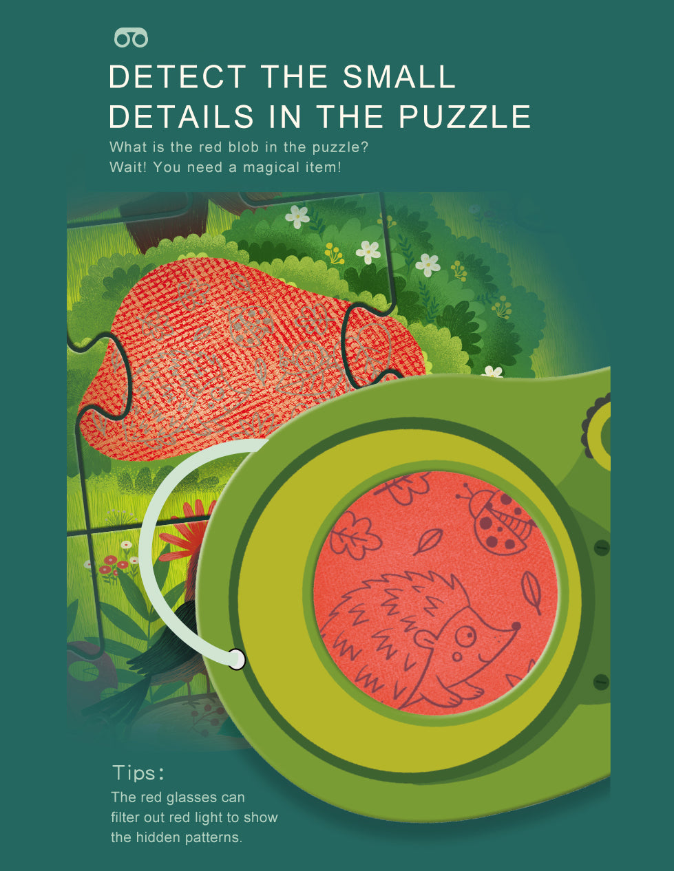 Secret Puzzle | Mideer | 35 Pieces Search and Find Jigsaw Puzzle