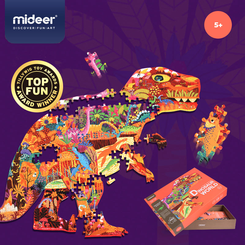 Dinosaur World Puzzle | Mideer | 280 Pieces Large Jigsaw Puzzle