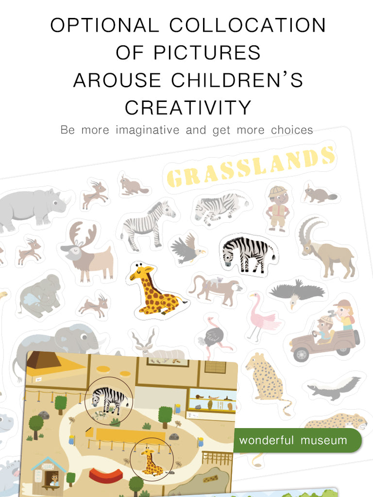 Reusable Stickers | Mideer | 100+ Pieces Stickers