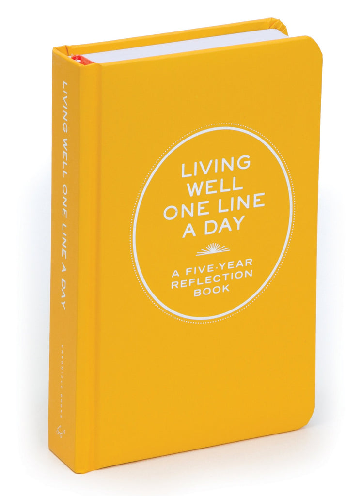 Living Well One Line A Day | Chronicle Books | A Five-Year Reflection Diary
