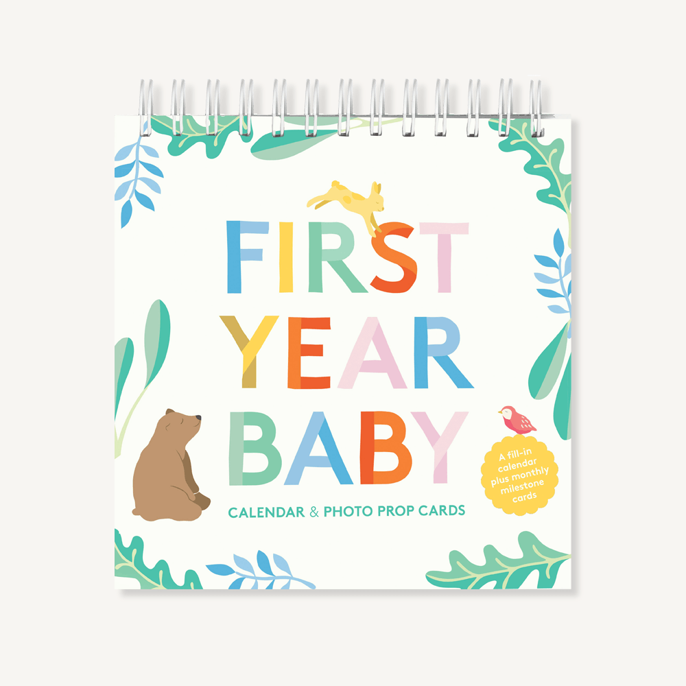 First Year Baby Calendar and Photo Prop Cards | Chronicle Books | Calendar