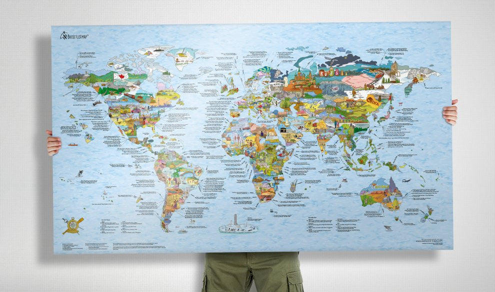 Bucketlistmap re-writable | Awesome Maps | World Map