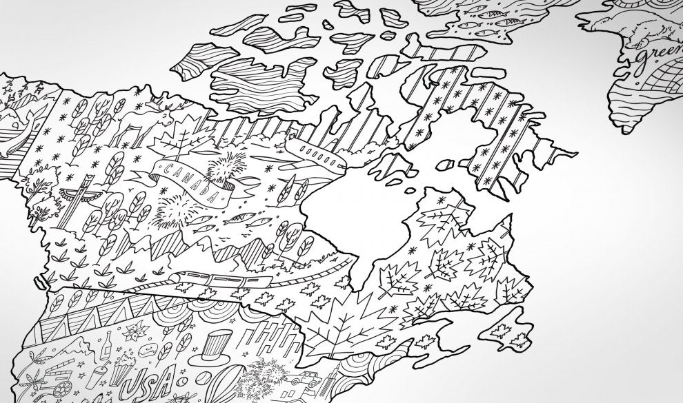 Awesome Map - Coloring Map