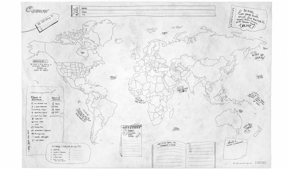 The Journal Map | Awesome Maps | World Pocket Map