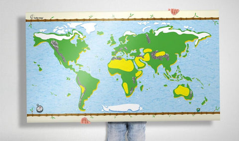 Awesome Maps - Kidsmap with sticker set re-writable
