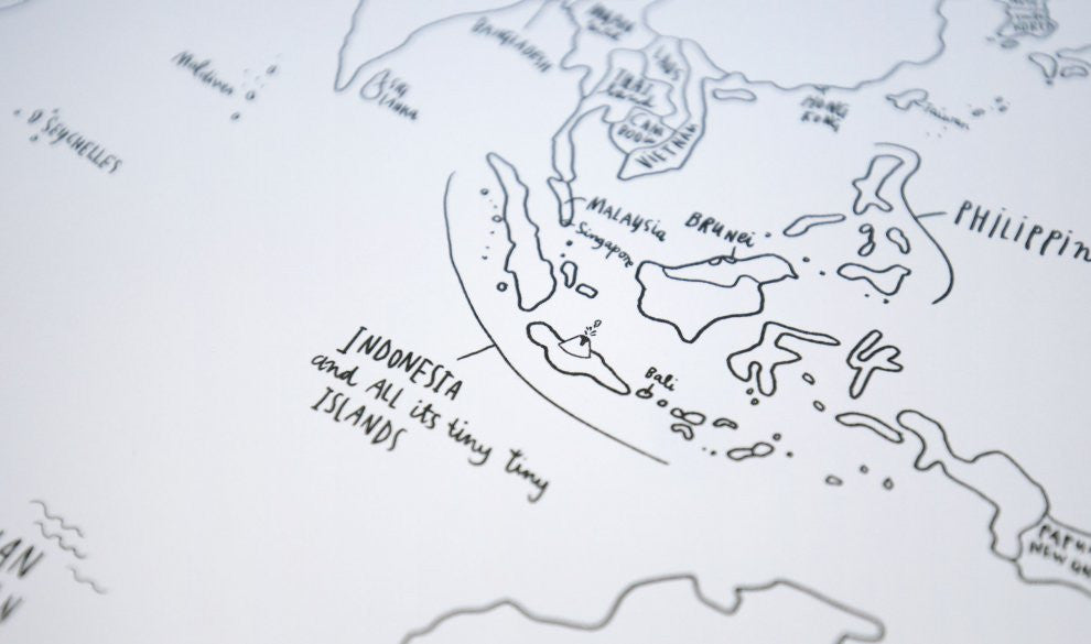 The Sketch Map | Awesome Maps | World Map