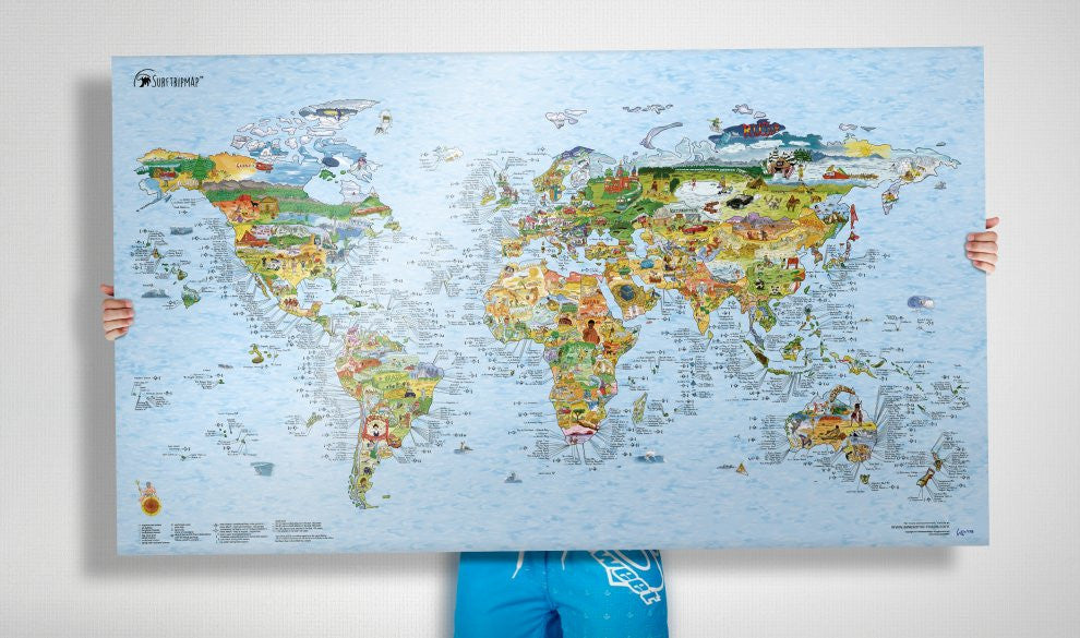 Surftrip re-writable Map| Awesome Maps | World Activities Map