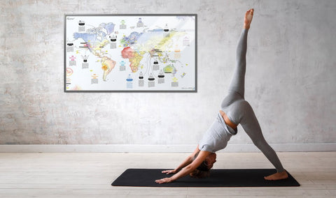Awesome Map - Yoga Map (matte)
