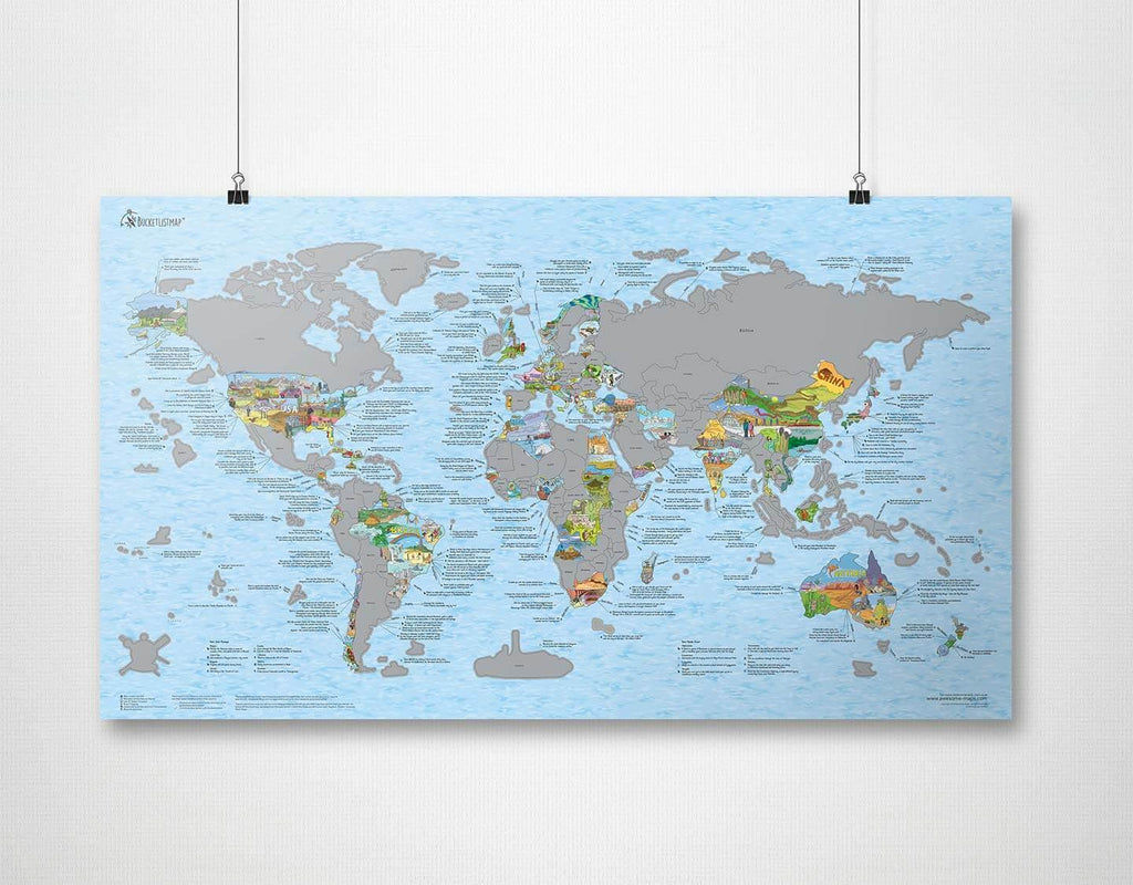 Bucketlistmap scratch edition | Awesome Maps | World Map
