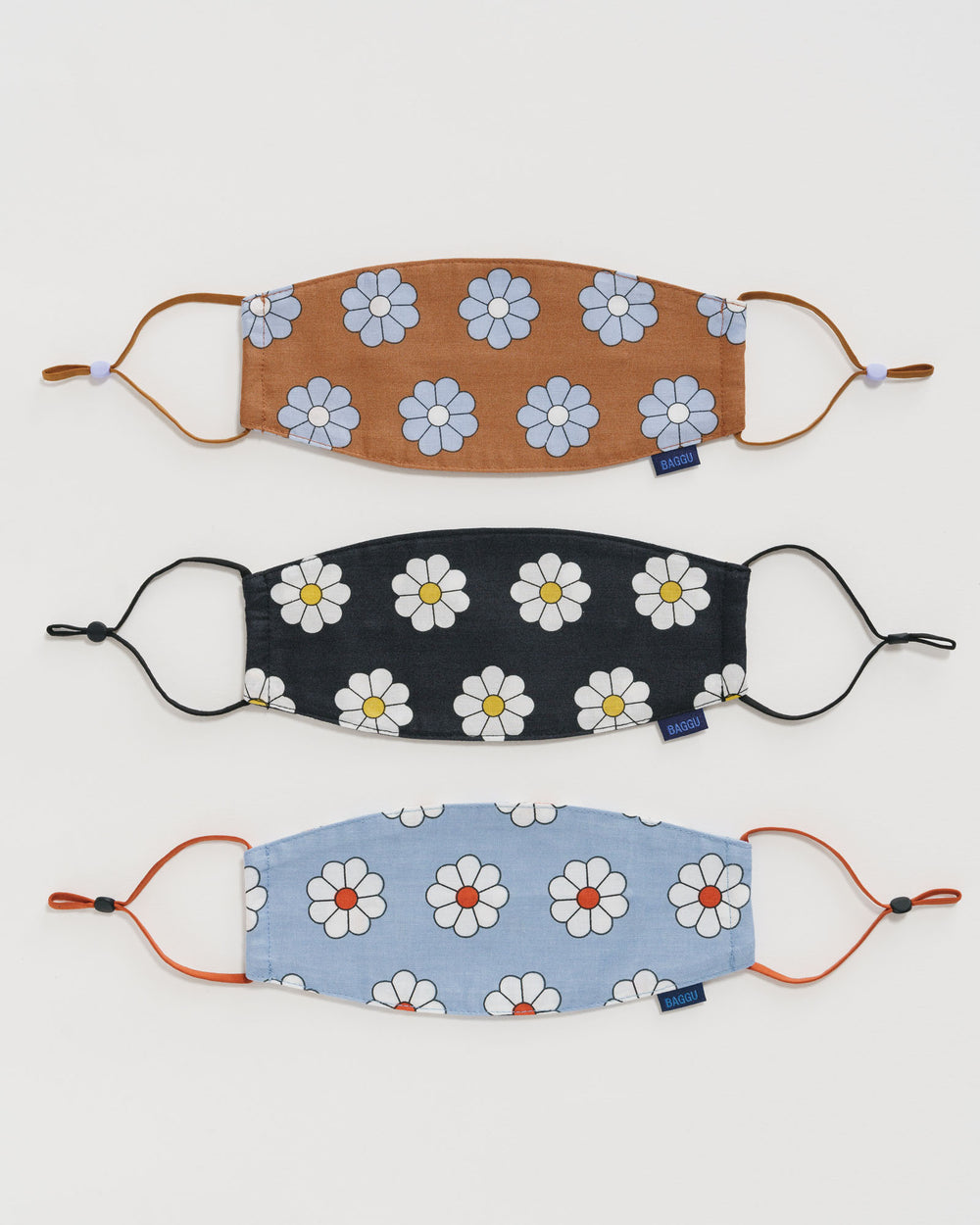 Fabric Mask Loop - Daisy (Set of 3)  | Baggu | 100% Organic Cotton