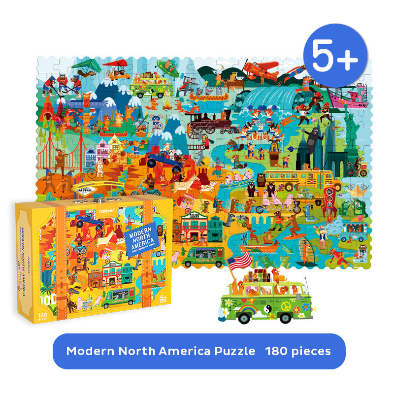 Travel Around The World Puzzle | Mideer | 180 Pieces Jigsaw Puzzle | Maud Lienard