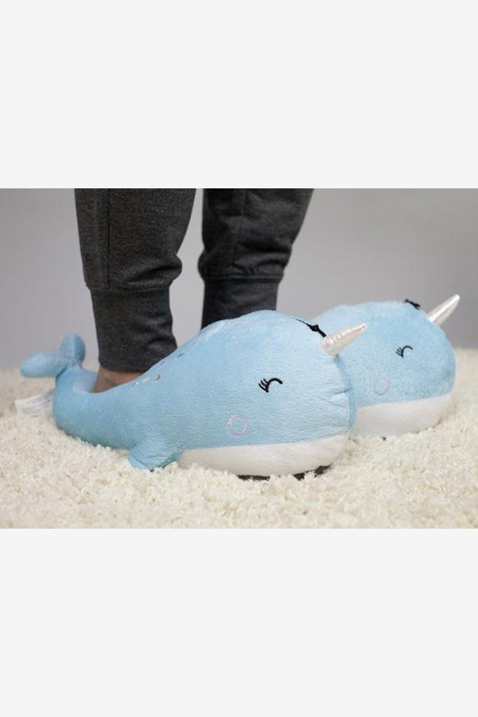 Nari Narwhal Light-up Slippers