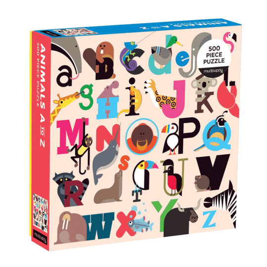 A - Z 500 Pieces Family Puzzle | Mudpuppy | Jigsaw Puzzle