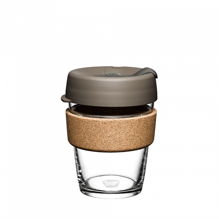 Keepcup Brew Cork 12oz  | Reusable Cup | Tempered Glass + Cork Band | Limited edition