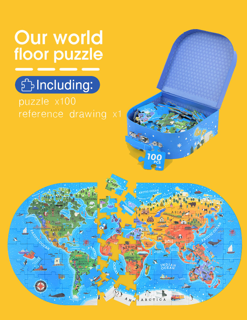 Gift Box Puzzle | Mideer | 104 Pieces Jigsaw Puzzle