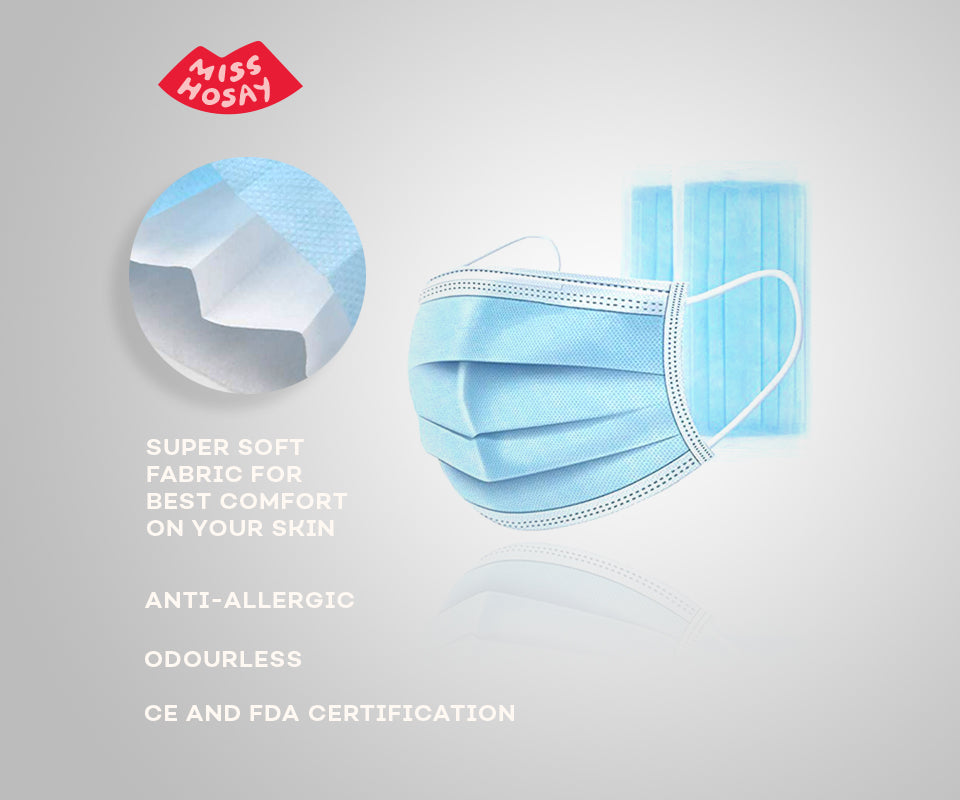 Disposable Protective 3-Ply Mask | Boomwow | Face Mask