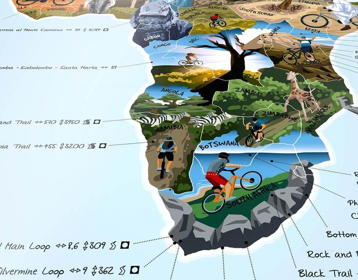 Mountain Bike Map | Awesome Maps | World Activities Map