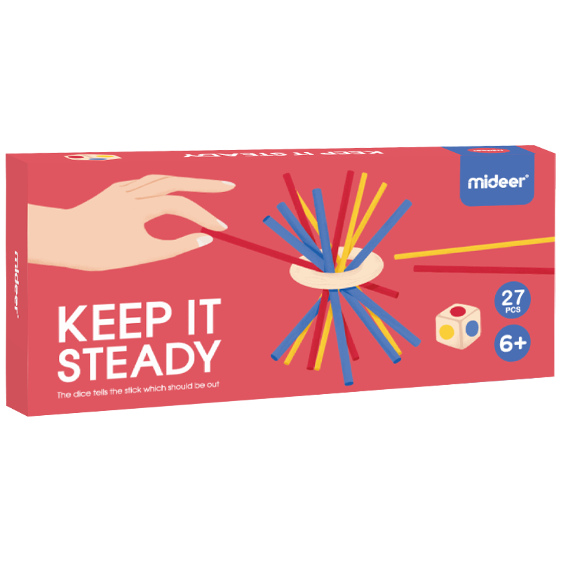 Keep It Steady Family Game | Mideer | Dexterity Stick Game