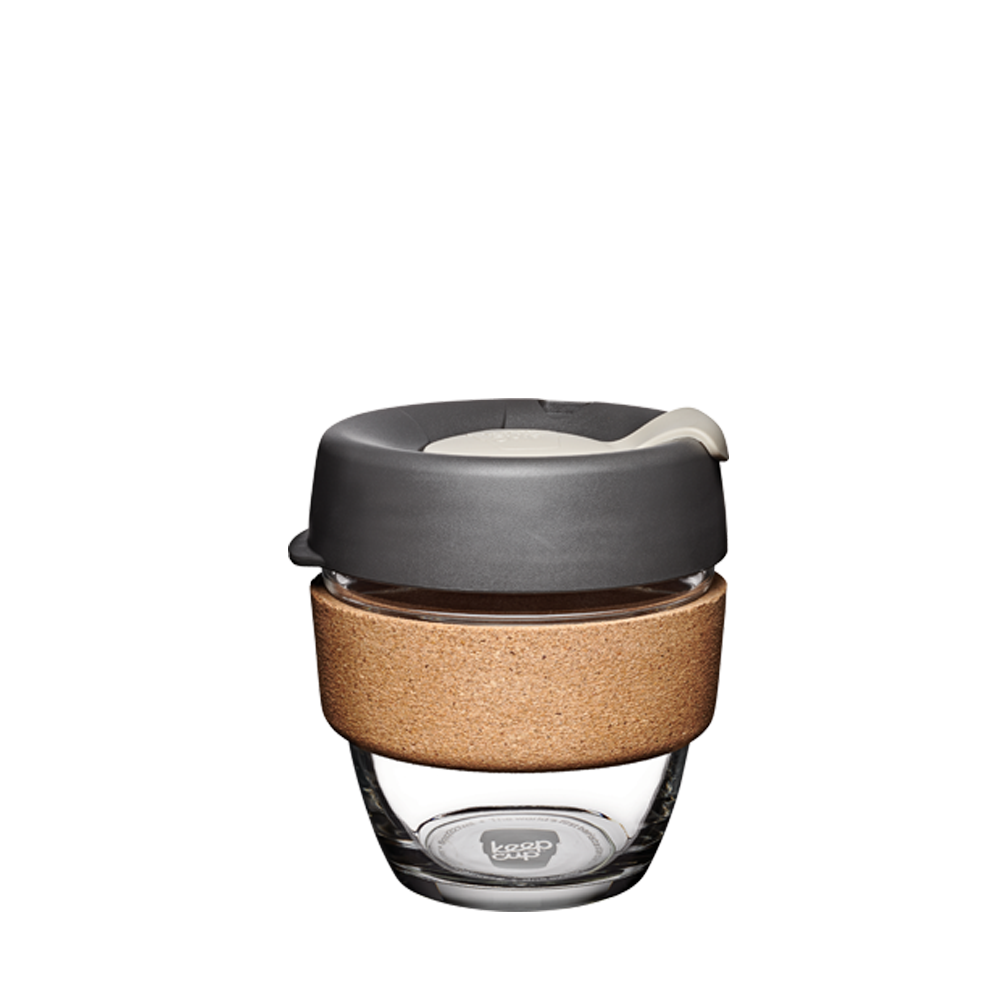 Keepcup Brew Cork 8oz  | Reusable Cup | Tempered Glass + Cork Band