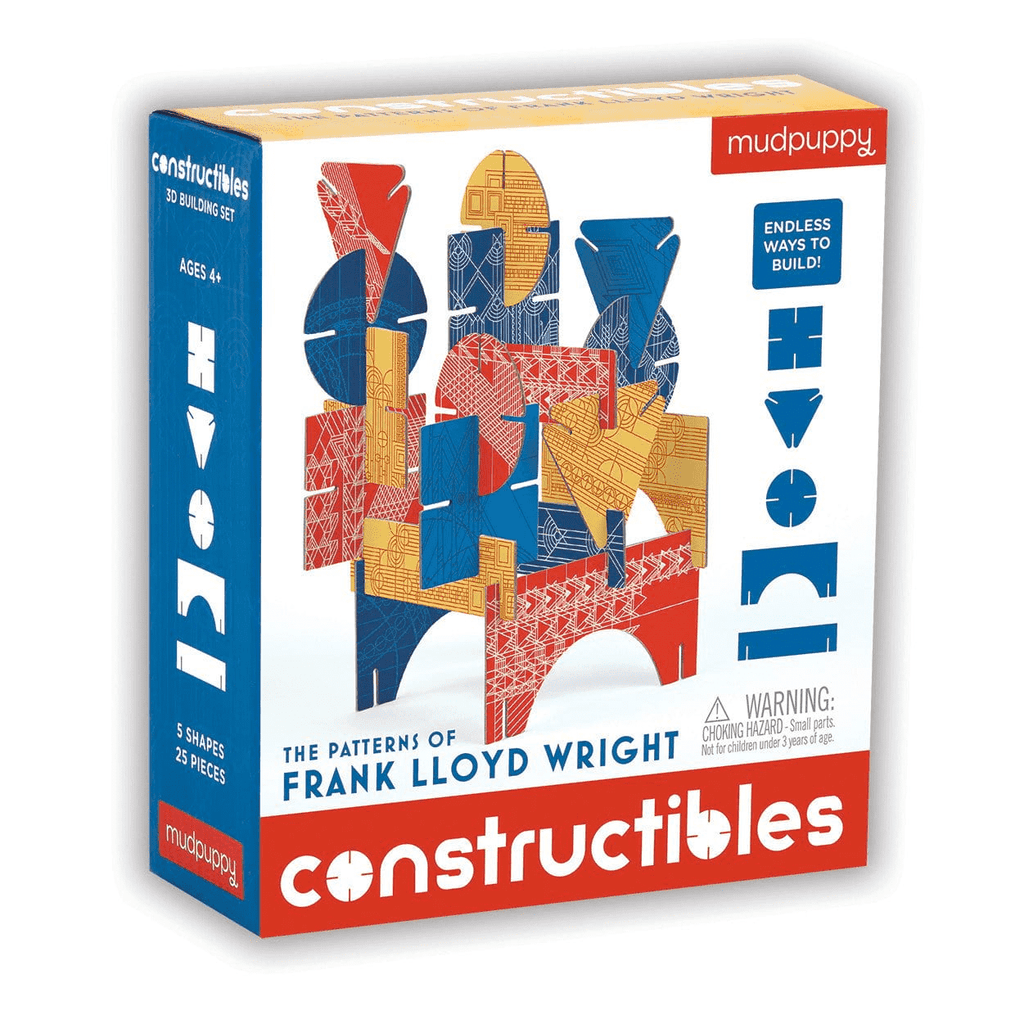 The Patterns of Frank Lloyd Wright Constructible | Mudpuppy | 3D Sculptures