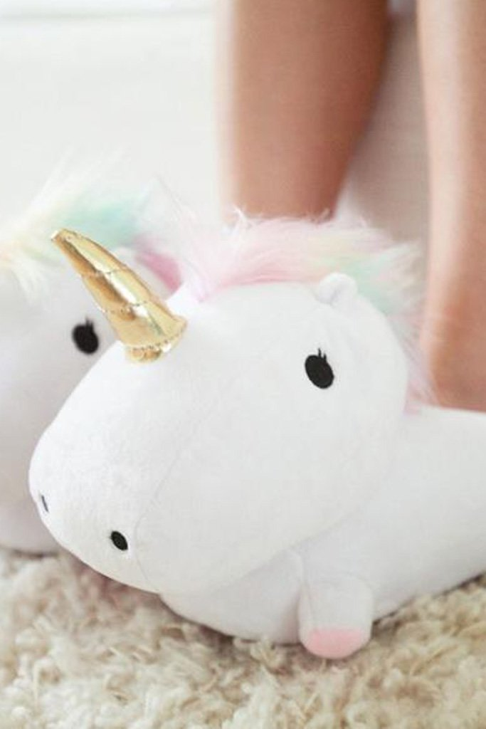 Unicorn LED Light Up Slippers