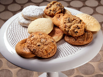 A delectable assortment of one dozen Gourmet Assorted Cookies.