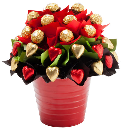Chocolate Bouquet Surprise (36 Round & Heart Shape Chocolates).