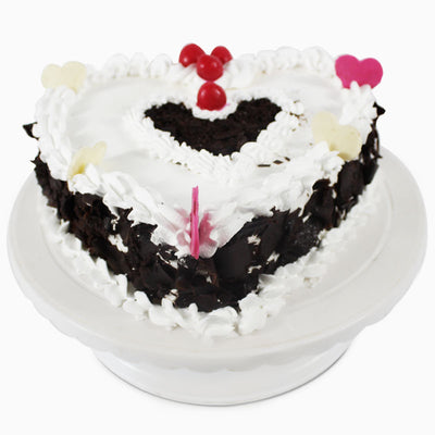 Heart Shape Black Forest Cake - 1 KG