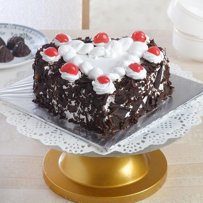 Exotic Heart Shaped Black Forest Cake