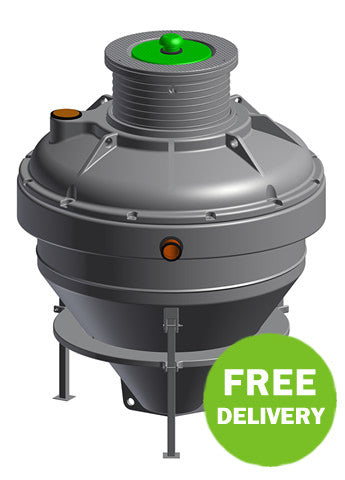 Conder hdpe asp12 sewage treatment system gravity for Gravity septic