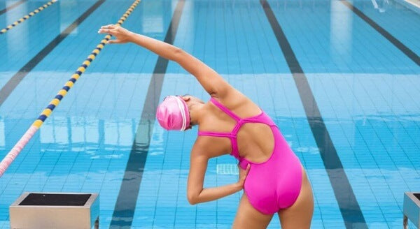 Stretching exercise in swimming