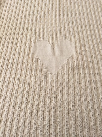 Heart Cable Knit Blankets