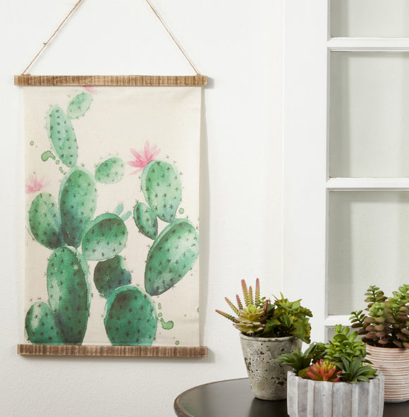 Cactus Canvas Wall Hanging