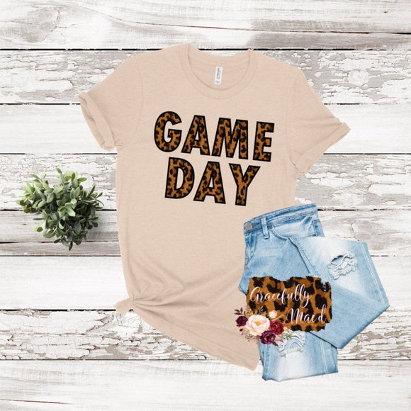 Leopard Game - Sports- Game Day- Boutique