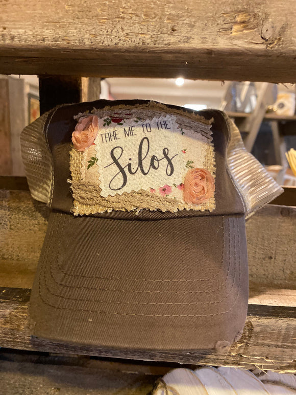 Take Me To The Silos Hat, Ball Cap, Vintage Hat, Magnolia Hat, Snapback Hat, Magnolia Hat