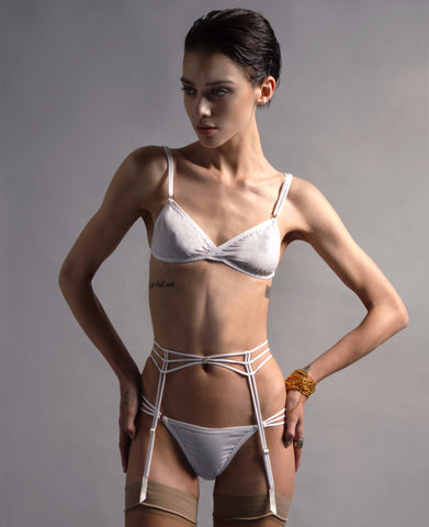 AEON WHITE COTTON BRA