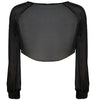 Xenon long sleeves silk chiffon crop top