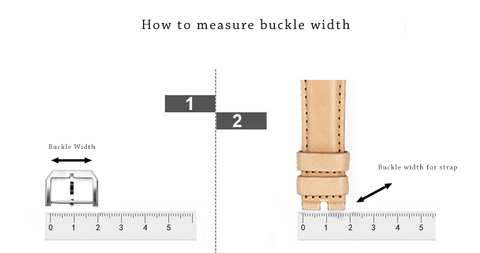 Sizing guide for measuring watch buckle & band size to match different buckle due to the different buckle size of every watches.
