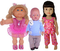 Our Standard Doll Sizes