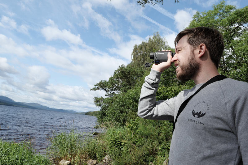 NatureSpy Pulsar Thermal Monocular in use