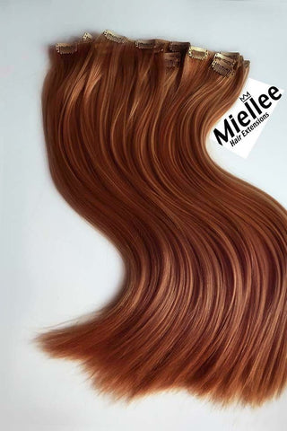 Peachy Red Seamless Tape Ins | Beach Wave Remy Human Hair