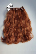 Amber Red 8 Piece Clip Ins - Wavy Hair