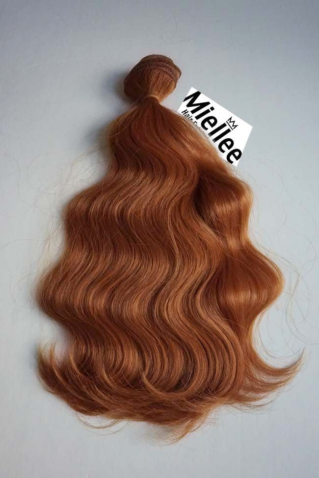 Amber Red Weave - Beach Wave - Remy Human Hair