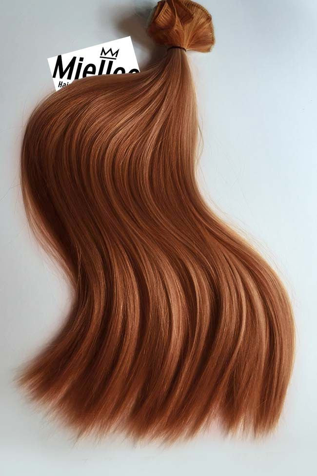 Amber Red Weave Extensions | Silky Straight Remy Human Hair